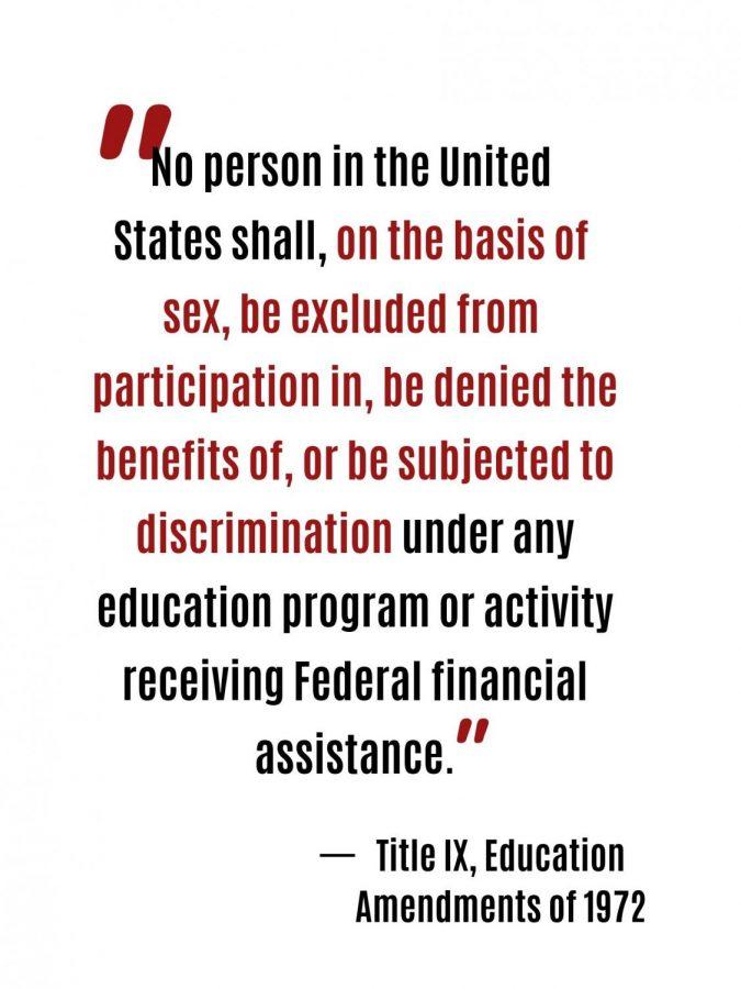 Title IX amendment