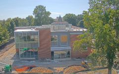 photo of learning commons building construction