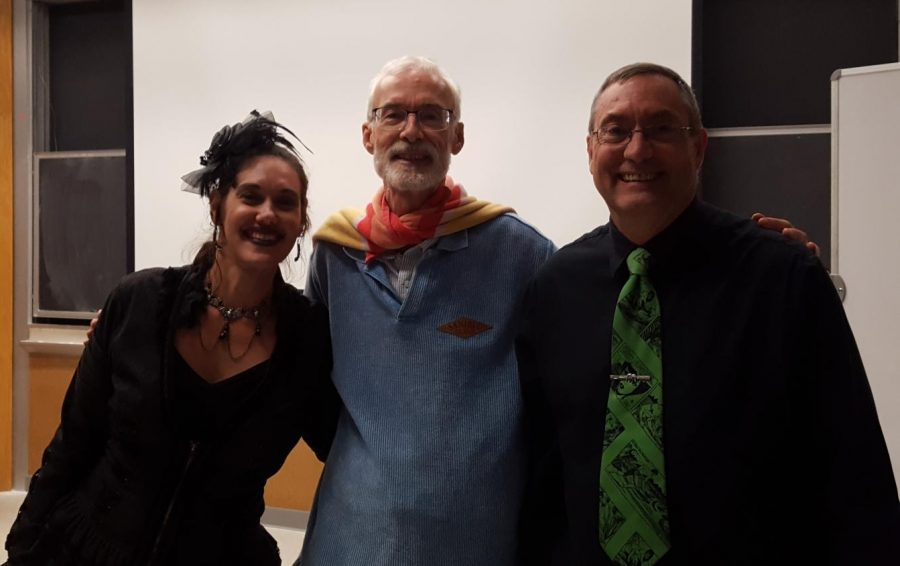Bridgewater College Professor of English Nicole Yurcaba, Editor Dan Veach, and Professor of English Dr. Stanley Galloway.