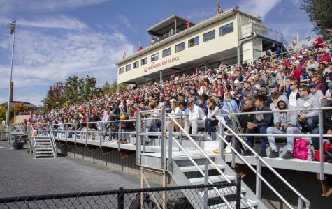 The stands were packed as spectators watched the Eagles dominate Ferrum in the second half.