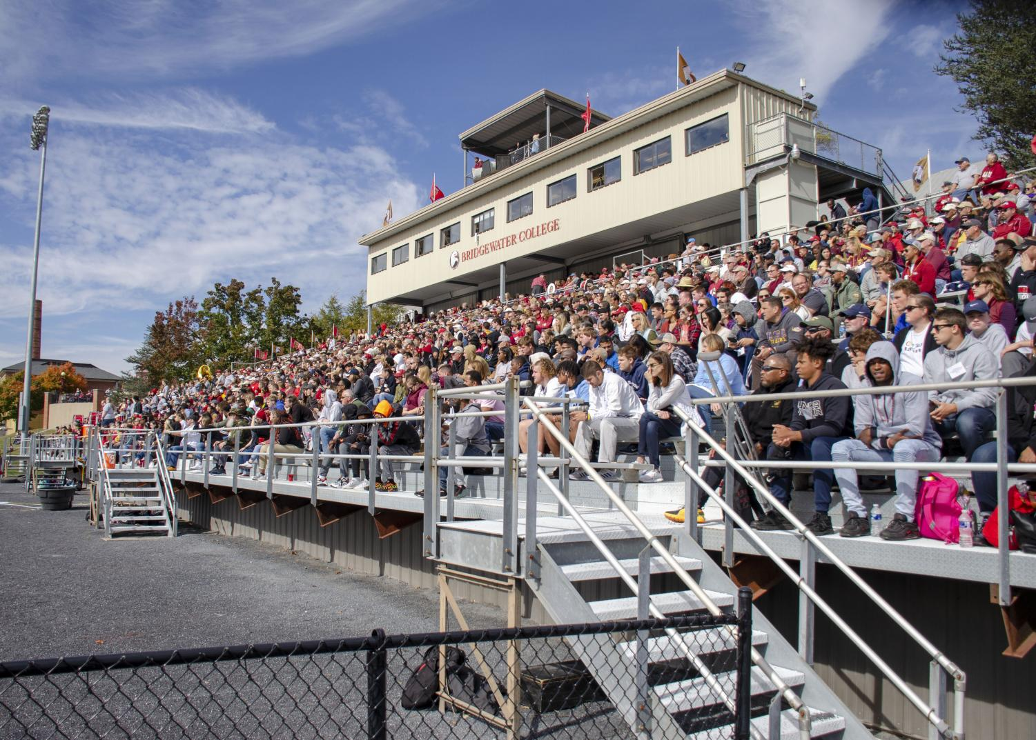 The+stands+were+packed+as+spectators+watched+the+Eagles+dominate+Ferrum+in+the+second+half.