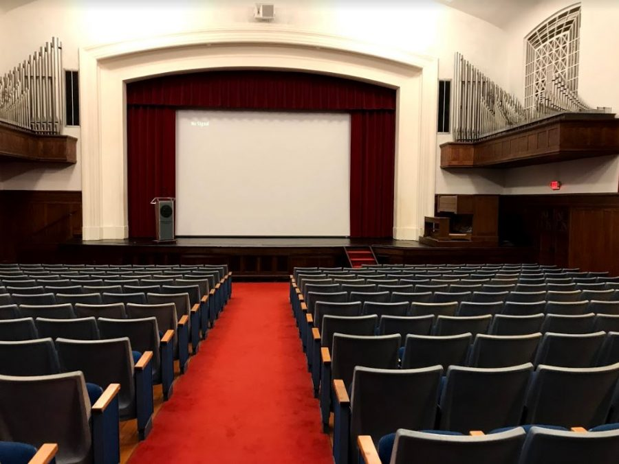 Pictured here is Cole Hall, where the documentary was shown.