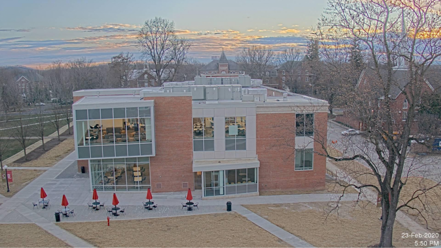 Photograph from webcam on roof of Bowman Hall