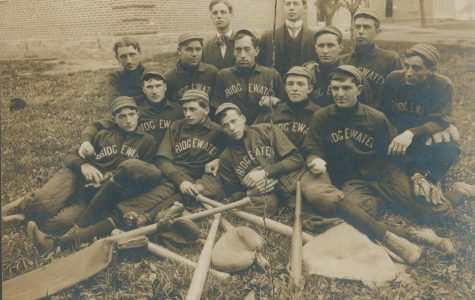 One of the earliest organized Bridgewater College baseball teams, circa 1895