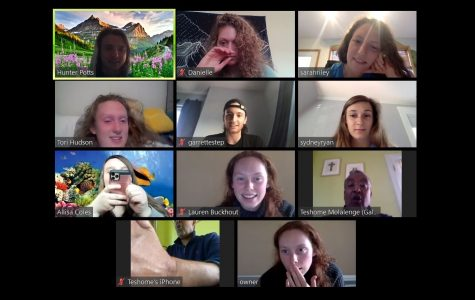 During the Zoom meeting, attendees discussed how they are staying positive amid the nationwide quarantines and finding happiness in nature.