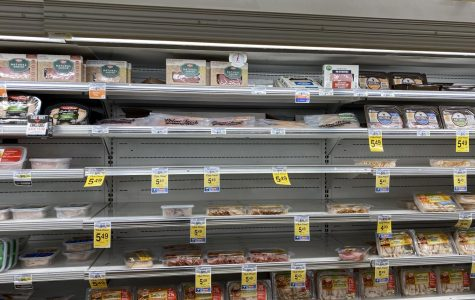 Safeway Grocery Store Has Trouble Keeping Shelves Full