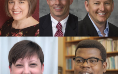 Founder's Day award recipients, clockwise from upper left: Dr. Michele Strano Clark, Dr. Charles W. Hale IV, Dr. James S. Josefson, Keon D. Nesmith '20 and Whitney S. Smith '01