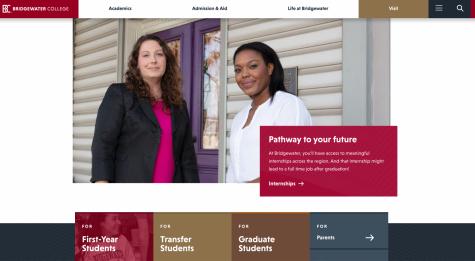 Image of bridgewater.edu website