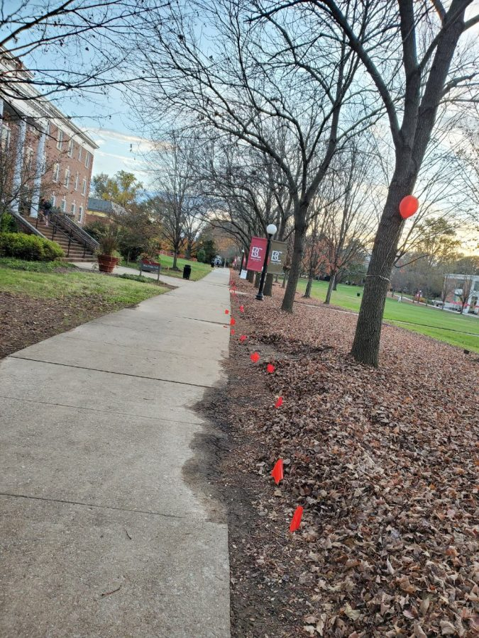 BCUnited places red flags around campus