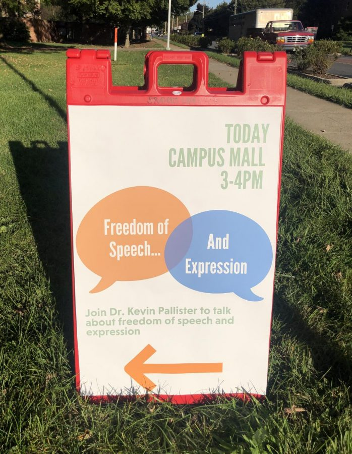 Sign for freedom of speech