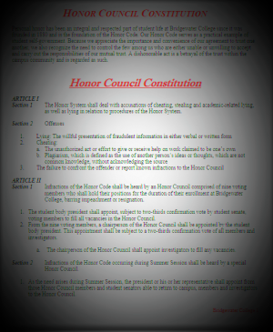 honor council constitution