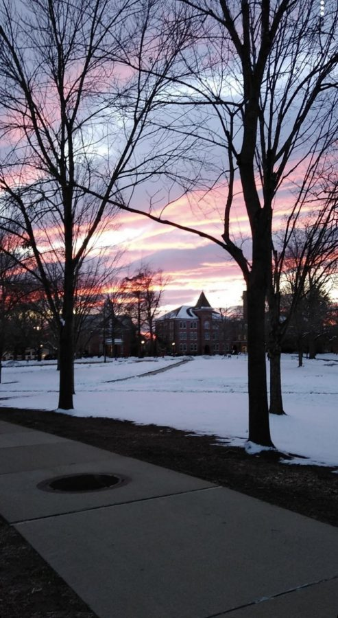 Campus mall (Flory hall)