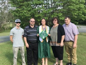 Gormus Family photo on graduation day