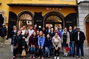 Study abroad students in Salzburg, Austria