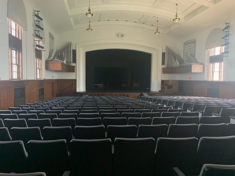 Stage in Cole Hall