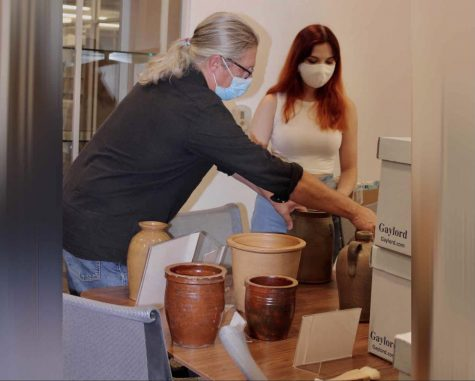 Displaying the Pottery - Dr. Suiter