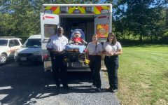 Pictured from left to right, Chief Milton Franklin, senior Bekah Vaughan, and junior Kate Dear.